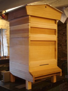 cedar national hive with gabled roof