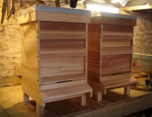 Assembled Cedar National Hives